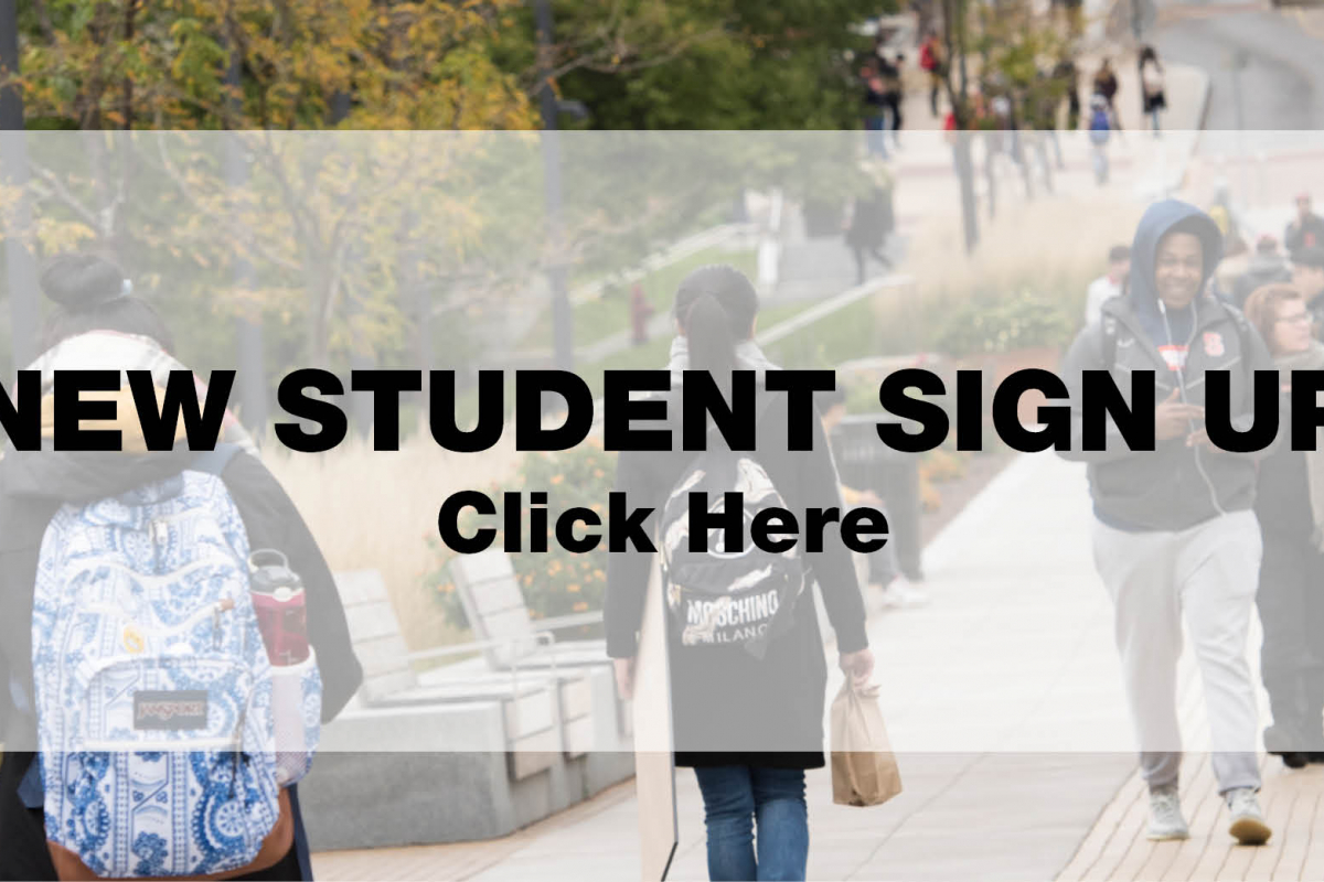 New Students Sign Up Slider